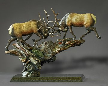 Royal Conflict Bronze Sculpture 2015 38x30 Sculpture - Barry Stein