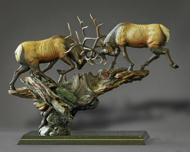 Royal Conflict Bronze Sculpture 2015 38x30