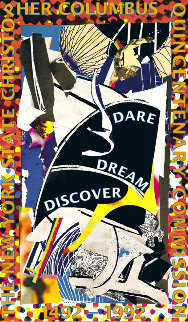 Dare Dream Discover Poster 1991 HS Limited Edition Print - Frank Stella