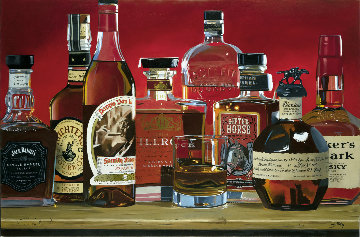 Kentucky Gang ( Whiskey) 28x42 Original Painting - Thomas Stiltz