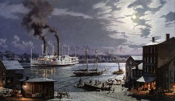 Hartford: City of Hartford - Arriving in 1870  1993 Limited Edition Print - John Stobart