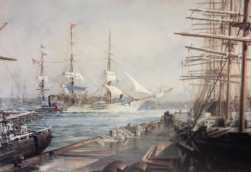 Abner Coburn Leaving the East River For San Francisco in 1886  Limited Edition Print - John Stobart