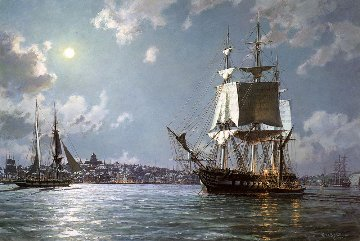 U.S.S. Constitution Preparing to Sail on the Ebb Tide  Limited Edition Print - John Stobart