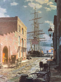 Charleston: Prioleau Street in 1870 Limited Edition Print - John Stobart