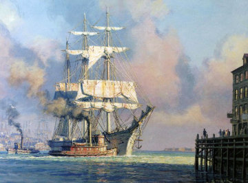 Harbor Farewell 2001 Limited Edition Print - John Stobart