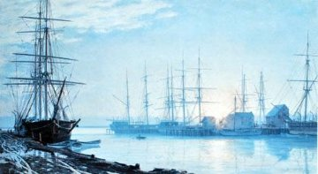 Sunrise Over Nantucket in 1835 1987 Limited Edition Print - John Stobart