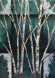 Color of Winter on wood 52x38 Original Painting - Rolinda Stotts