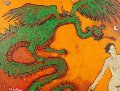 Dragon Lady 18x24 Original Painting - James Strombotne