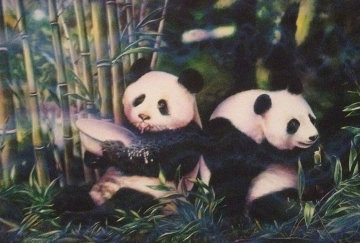 Pandas 1997 Limited Edition Print - Brett Livingstone Strong