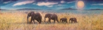 Elephant Walk 1997 Limited Edition Print - Brett Livingstone Strong