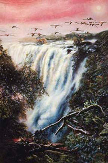 Victoria Falls 1993 Limited Edition Print - Brett Livingstone Strong