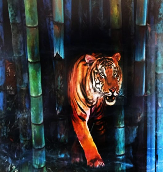 Tiger Watercolor  1998 36x48