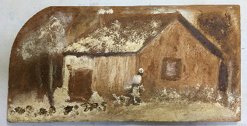 Home From the Hunt 1980 23x12 Original Painting - Jimmy Lee Sudduth