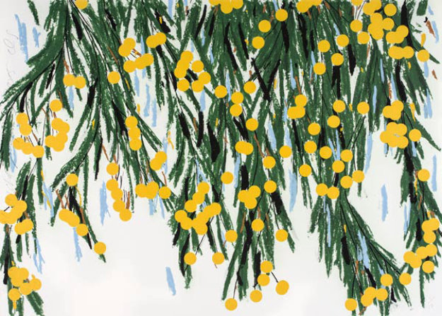 Yellow Mimosa 2015 Limited Edition Print by Donald Sultan