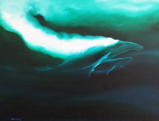 Mother Humpback And Child 1982 38x50