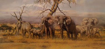 Monarchs of the Kenyan Plains 1987 Limited Edition Print - Gary Swanson