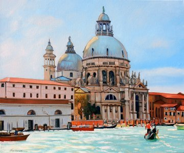 Venice in the Sun 2014 20x24 Original Painting - Tom Swimm
