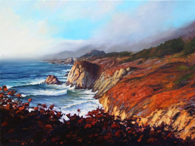 Big Sur Grandeur 2011 36x48 California