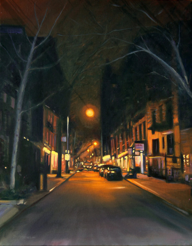 East Side Night 2015 28x22 New York