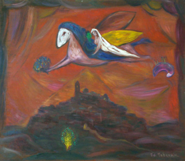 Soul of Chagall in St. Paul, Memory of Chagall 1995 28x32