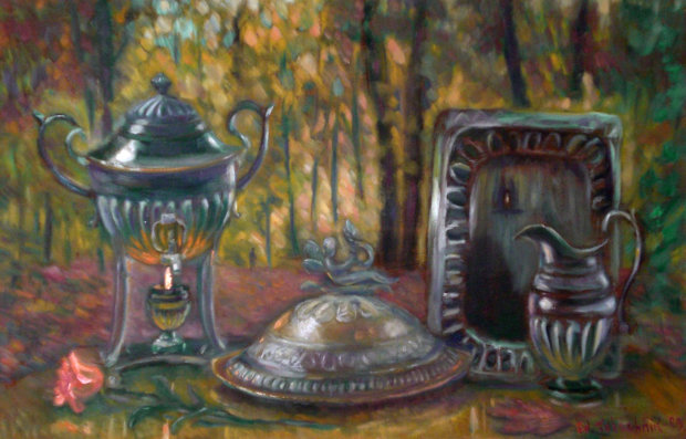 Supper in the Forest 1999 22x34