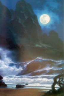 When the Night Calls Hawaii 1996 Embellished Limited Edition Print - Roy Tabora