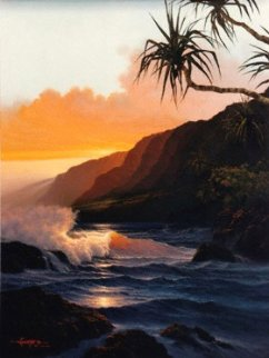 Last Rays of Summer Hawaii 1986 Limited Edition Print - Roy Tabora