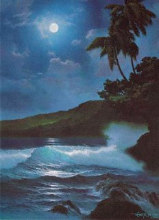 Reflections of a Tropical Moon 1987 w Remarque Limited Edition Print - Roy Tabora