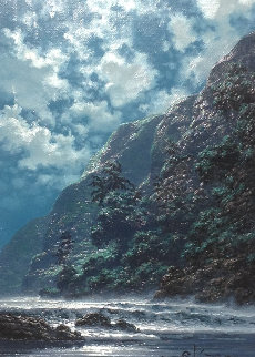 Azure Dreams 2006 17x21 Original Painting - Roy Tabora