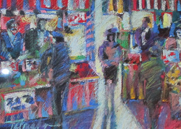 Farmer's Market 1992 25x32 Original Painting - James Talmadge