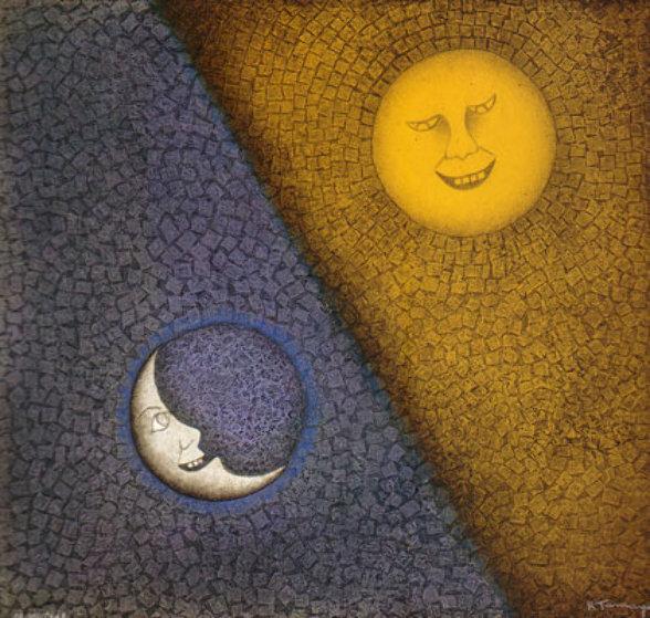 Luna Y sol, Moon and Sun #338 by Rufino Tamayo