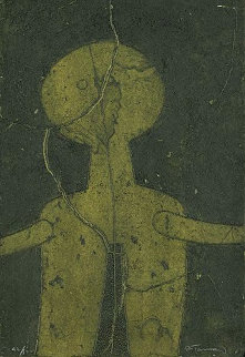Figura En Verde (Figure in Green)  Limited Edition Print - Rufino Tamayo