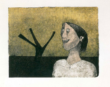 Smiling Woman (Mujer Sonriente) 1989 Limited Edition Print - Rufino Tamayo