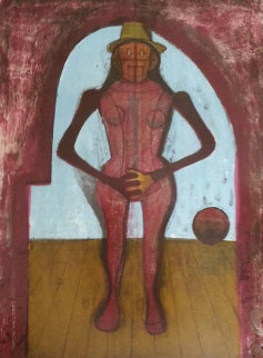 Femme Au Collant Rose (Mujer Con Mallas Rosas) 1969 Limited Edition Print - Rufino Tamayo