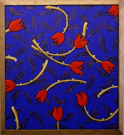 Flowers For Ophelia Blue 1999 47x39