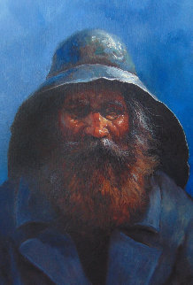 Old Man of the Sea 2000 24x20 Original Painting - Jorge  Tarallo Braun