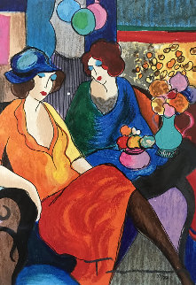Chit Chat 2010 Limited Edition Print - Itzchak Tarkay