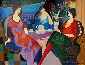 Sisters At Tea AP  Limited Edition Print - Itzchak Tarkay