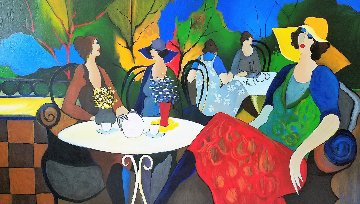 Spingtime Cafe 2002 Limited Edition Print - Itzchak Tarkay