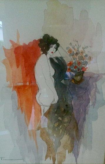 Untitled Nude Watercolor 2003 25x21