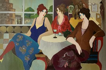 Cafe in the City 2008 Limited Edition Print - Itzchak Tarkay