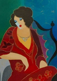 Lady in Red III 2000 Limited Edition Print - Itzchak Tarkay