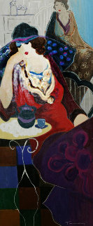 Tired At Tea Embellished 1998 Limited Edition Print - Itzchak Tarkay