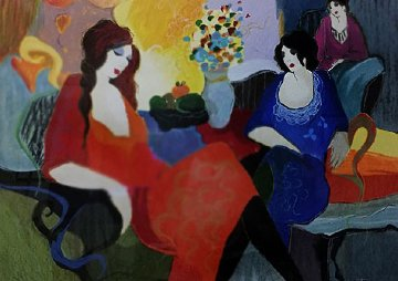 Two Ladies And a Friend  AP Limited Edition Print - Itzchak Tarkay