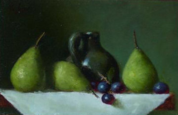 Seckle Pears Original Painting - Louis Tedesco