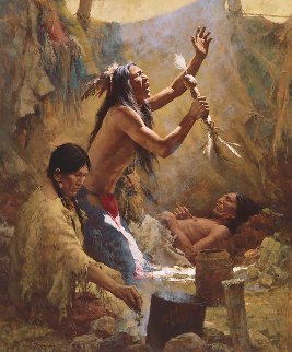 Medicine Man of the Cheyenne Limited Edition Print - Howard Terpning