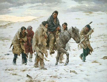 Chief Joseph Rides to Surrender Limited Edition Print - Howard Terpning