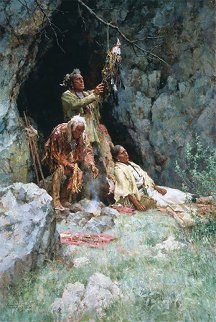 Healing Powers of the Raven Bundle 2003 Limited Edition Print - Howard Terpning