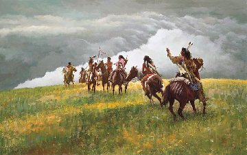 Thunder Speaks 2002 Limited Edition Print - Howard Terpning