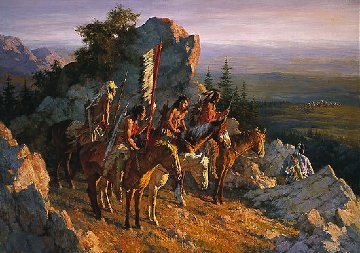 Gold Seekers to the Black Hills AP 1996 Limited Edition Print - Howard Terpning